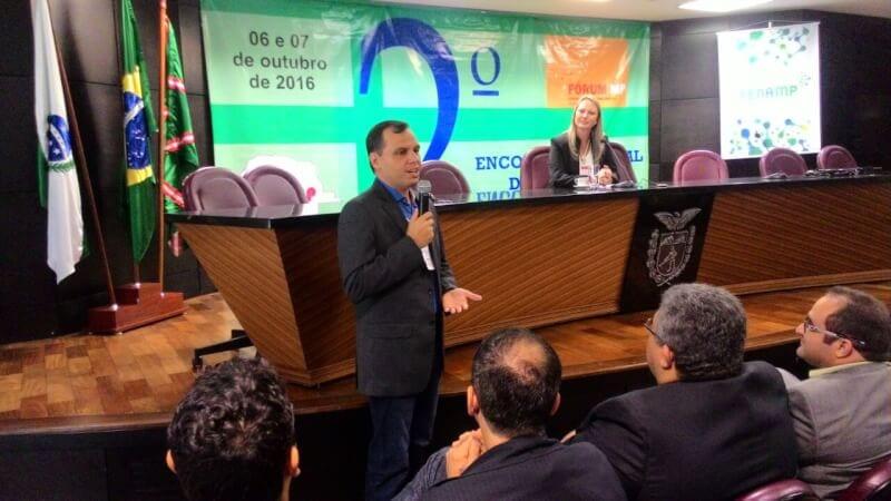 Vereador eleito em Natal, Aldo Clemente, participa de evento pelo Ministério Público, em Curitiba