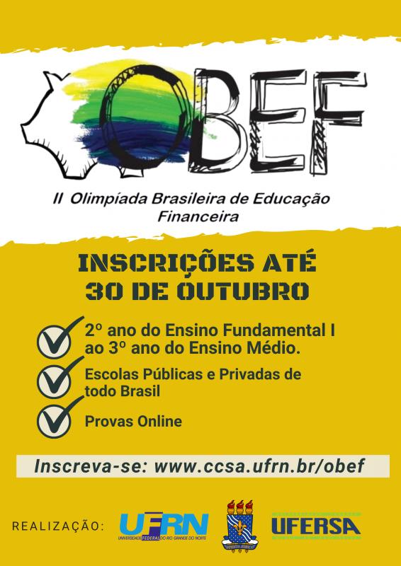 Abertas as inscrições para II Olimpíada Brasileira de Educação Financeira