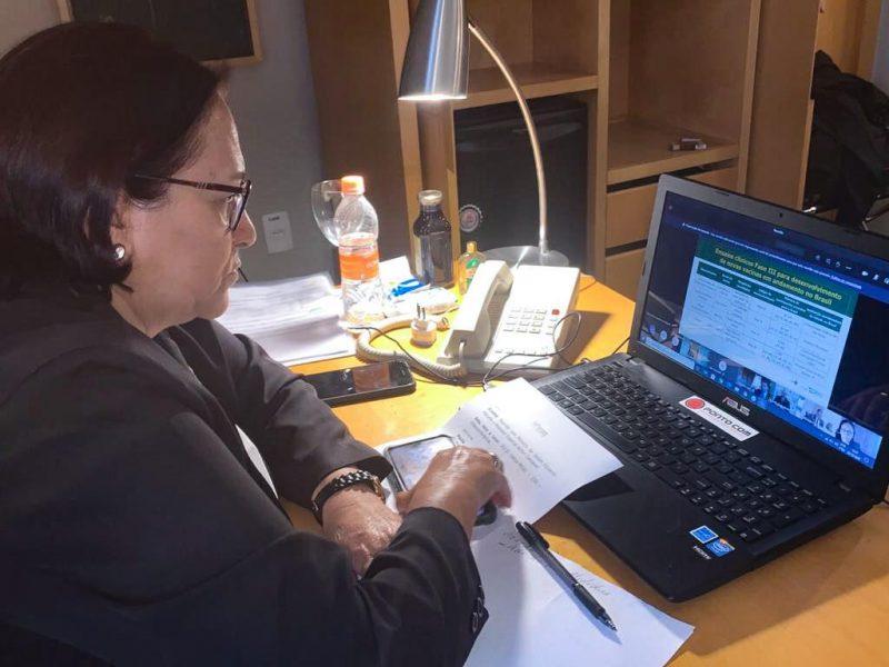 Covid: governadora discute plano de vacinação com ministro da Saúde e Fórum de Governadores