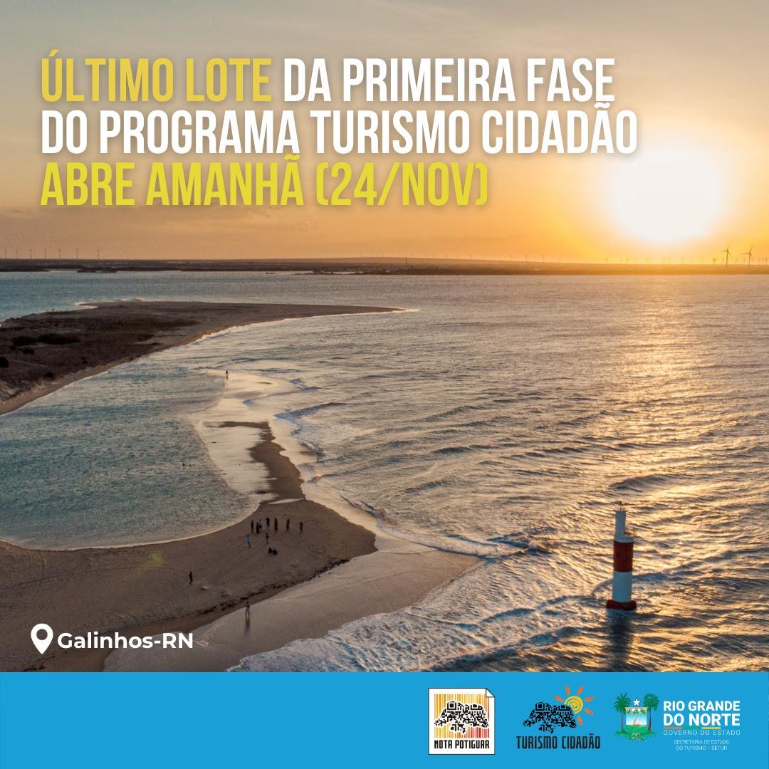 Último lote de 2020 do programa Turismo Cidadão abre hoje