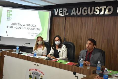Audiência pública define oferta de cursos do Campus Jucurutu do IFRN