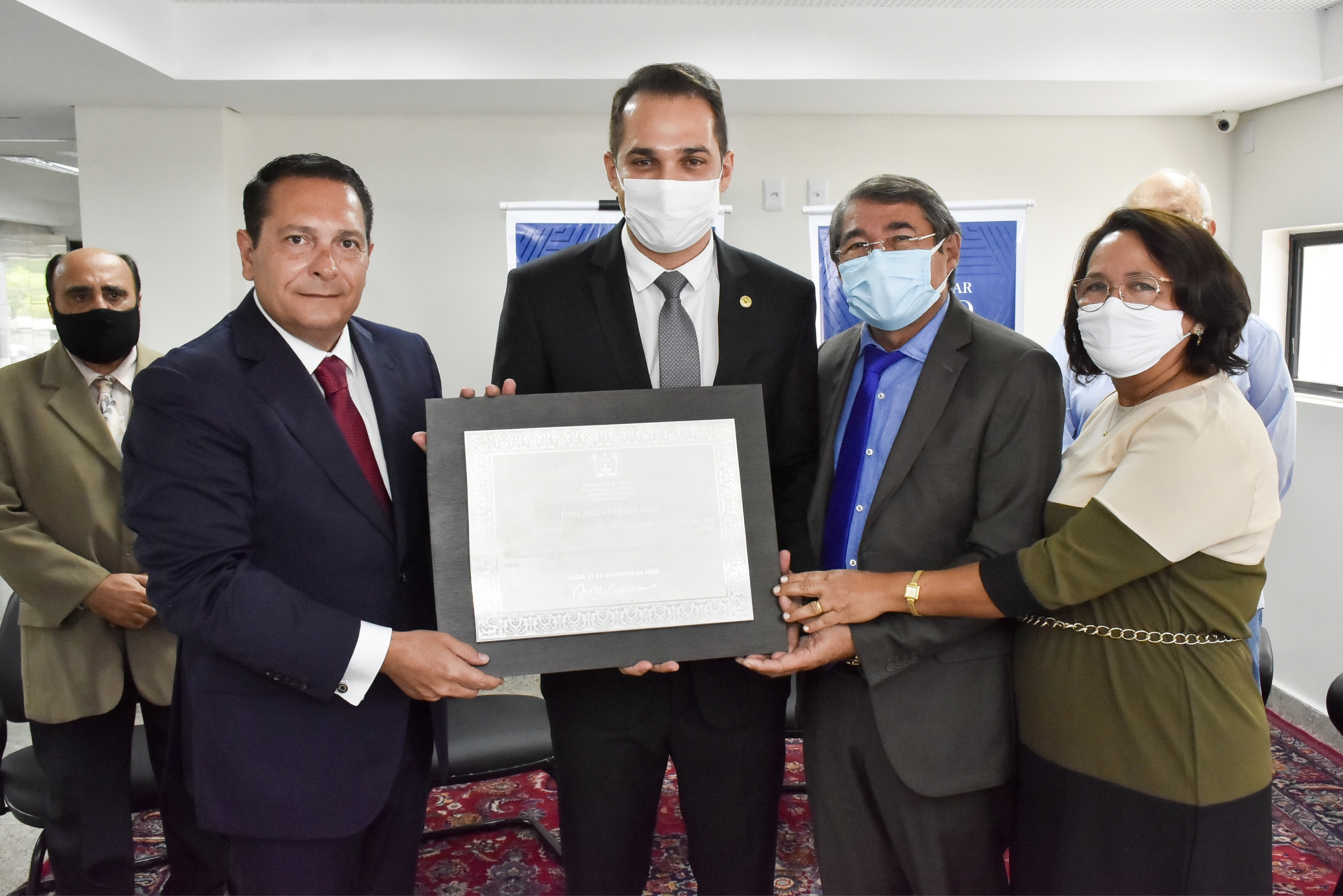 Kleber Rodrigues recebe o título de Parlamentar do Ano 2020 da ALRN