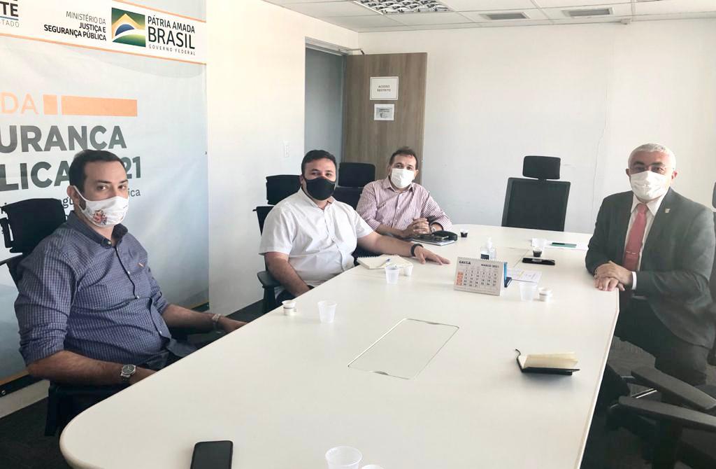 Prefeito de Caicó se reúne com secretário de Segurança para discutir videomonitoramento