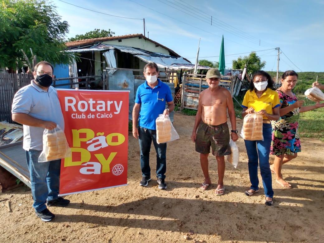 Com o Projeto Pão Day Rotary Club de Caicó distribui 25 mil pães a famílias carentes