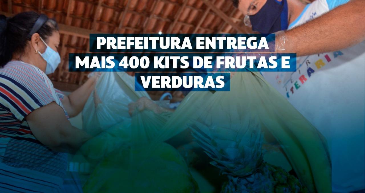 Prefeitura entrega mais 400 kits de frutas e verduras