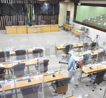 Assembleia Legislativa passa por desinfecção para conter avanço da pandemia