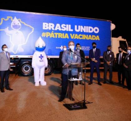 Vacinas da Pfizer chegam em Campinas e serão distribuídas aos estados