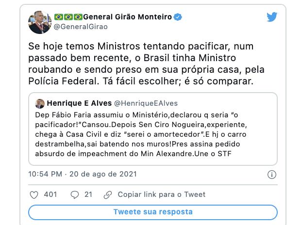 Deputado General Girão ataca Henrique Alves
