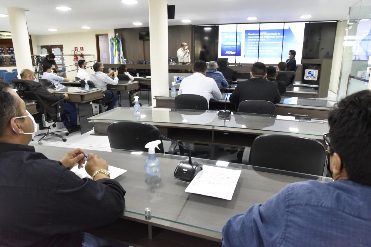Projetos da LDO e PPA são apresentados aos vereadores de Mossoró