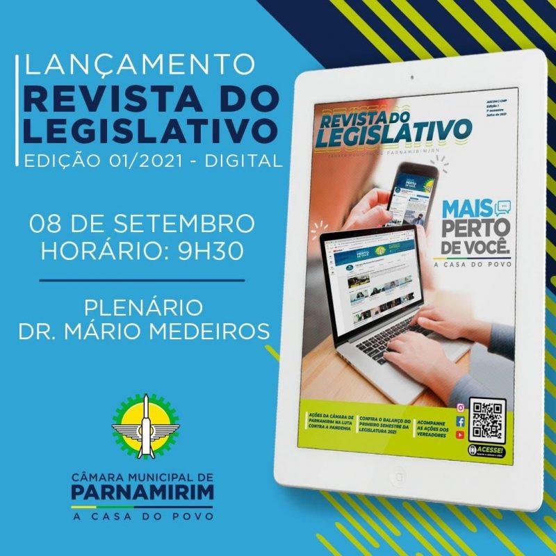 Câmara de Parnamirim lança Revista do Legislativo nesta quarta, 8