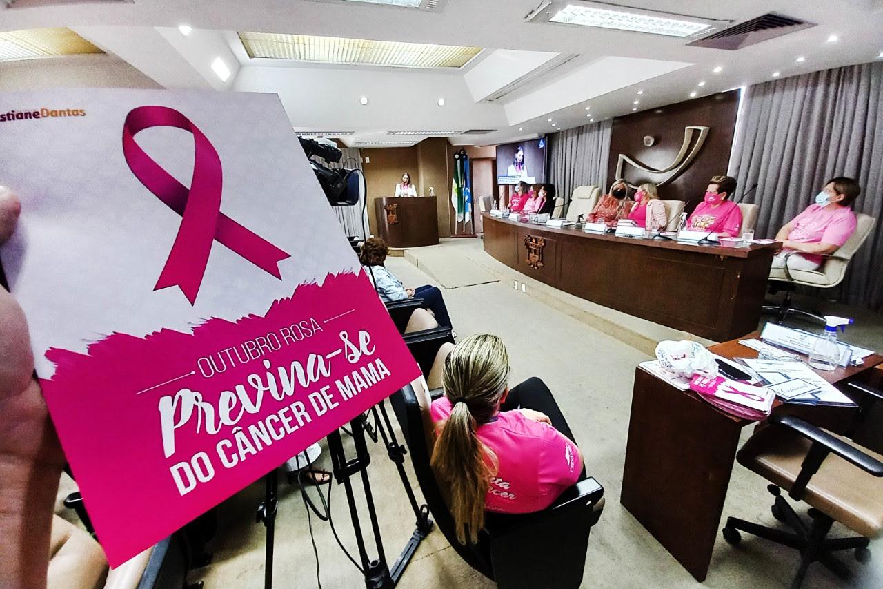 """Assembleia Legislativa lança campanhas """"Outubro Rosa e Lenço Solidário"""""""